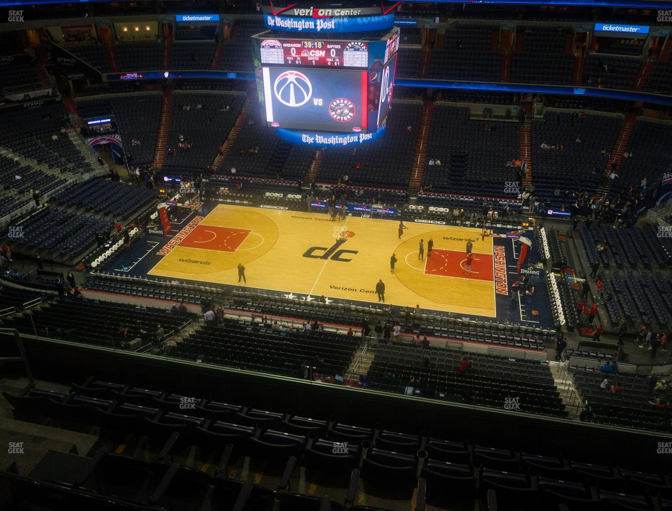 Washington Wizards at Capital One Arena Section 418 View