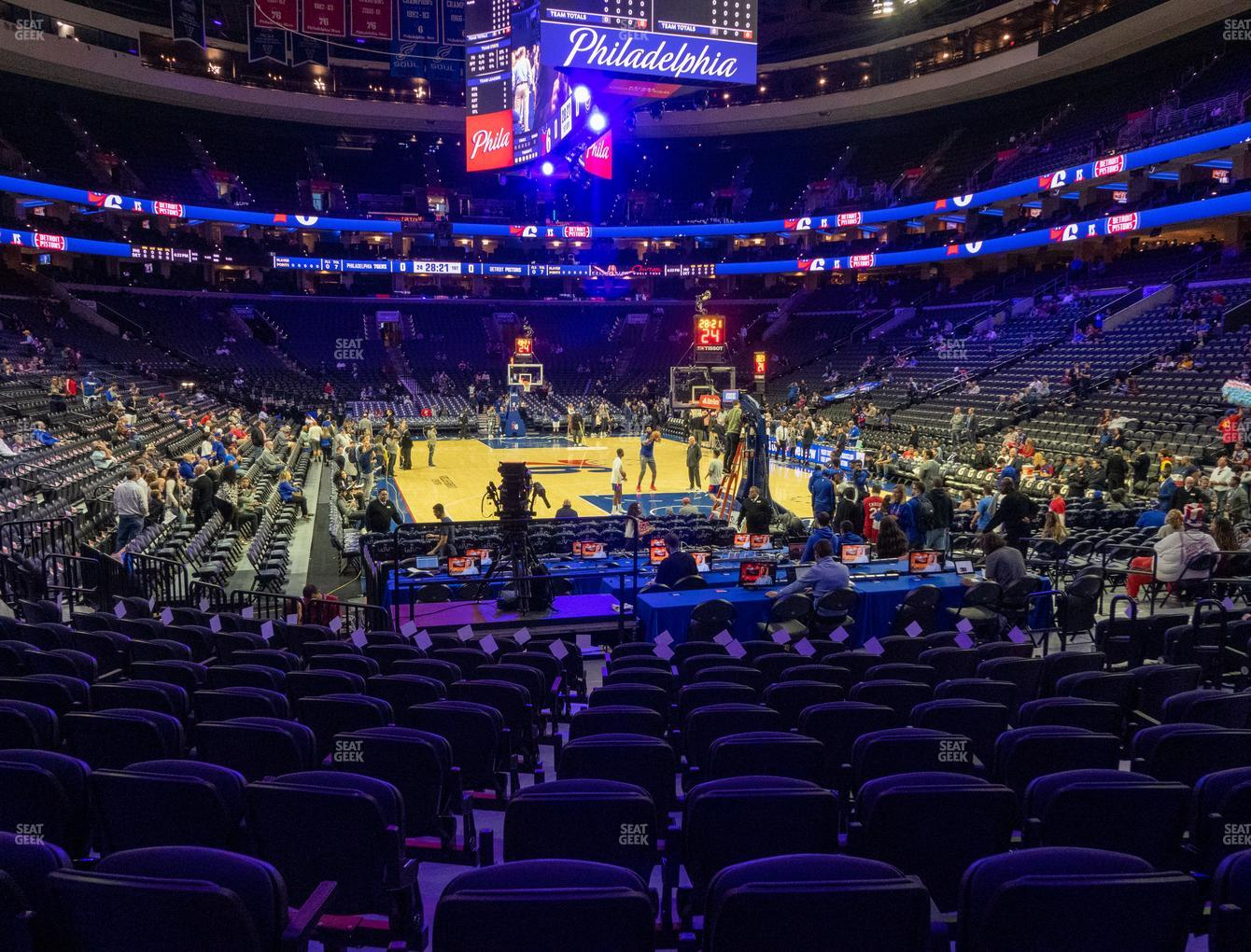 Philadelphia 76ers at Wells Fargo Center Section 118 View