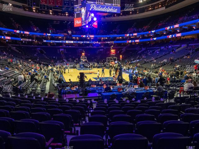 Wells Fargo Center Section 118 view