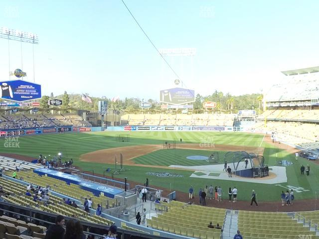 Dodger Stadium Loge Box 117 view