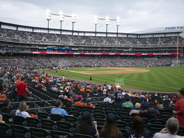 Comerica Park Section 115 view