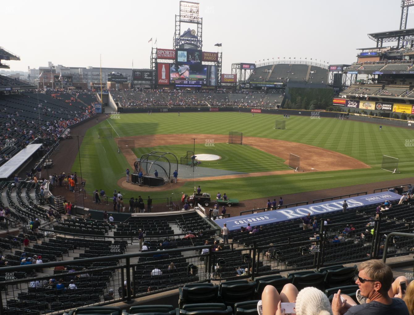 Colorado Rockies at Coors Field Section 227 View