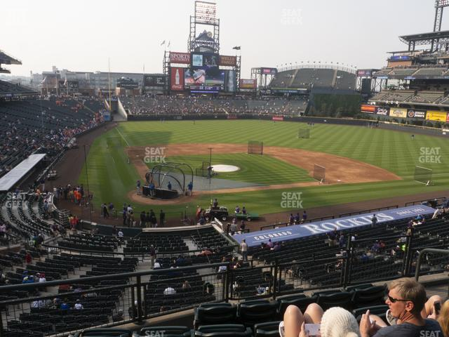 Coors Field Section 227 view