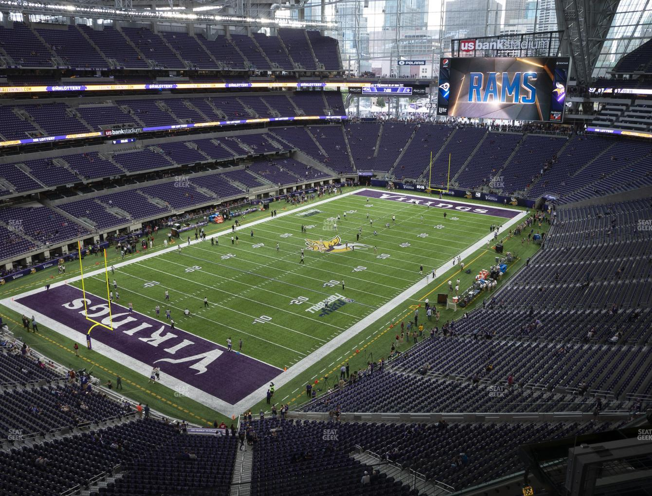 Minnesota Vikings at U.S. Bank Stadium Section 320 View