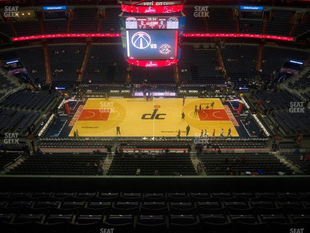 Capital One Arena Section 417 view