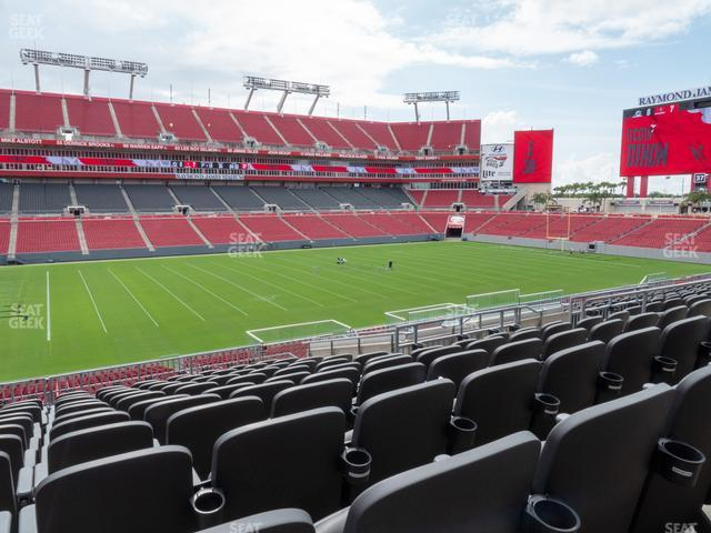 Raymond James Stadium Section 207 view