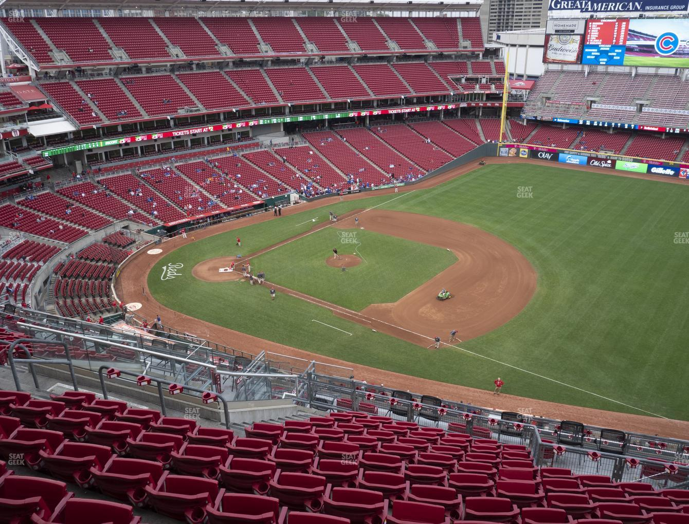 Cincinnati Reds at Great American Ball Park Section 533 View