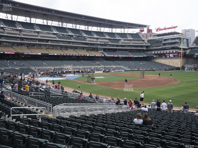 Target Field Section 104 view