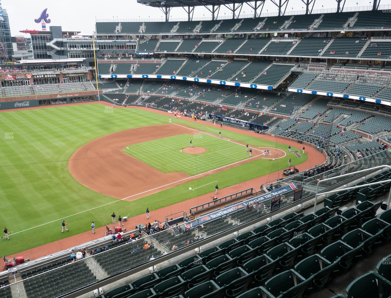 Atlanta Braves at SunTrust Park Section 337 View