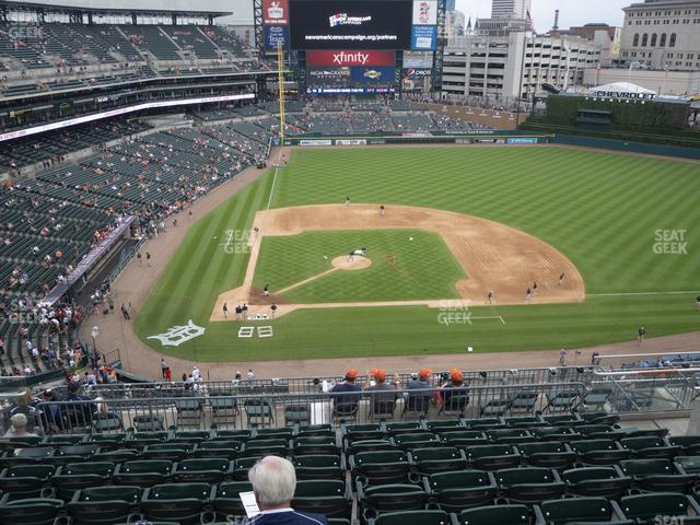 Comerica Park Section 323 view