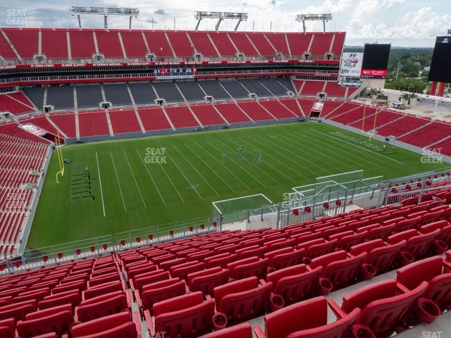 Raymond James Stadium Section 307 view
