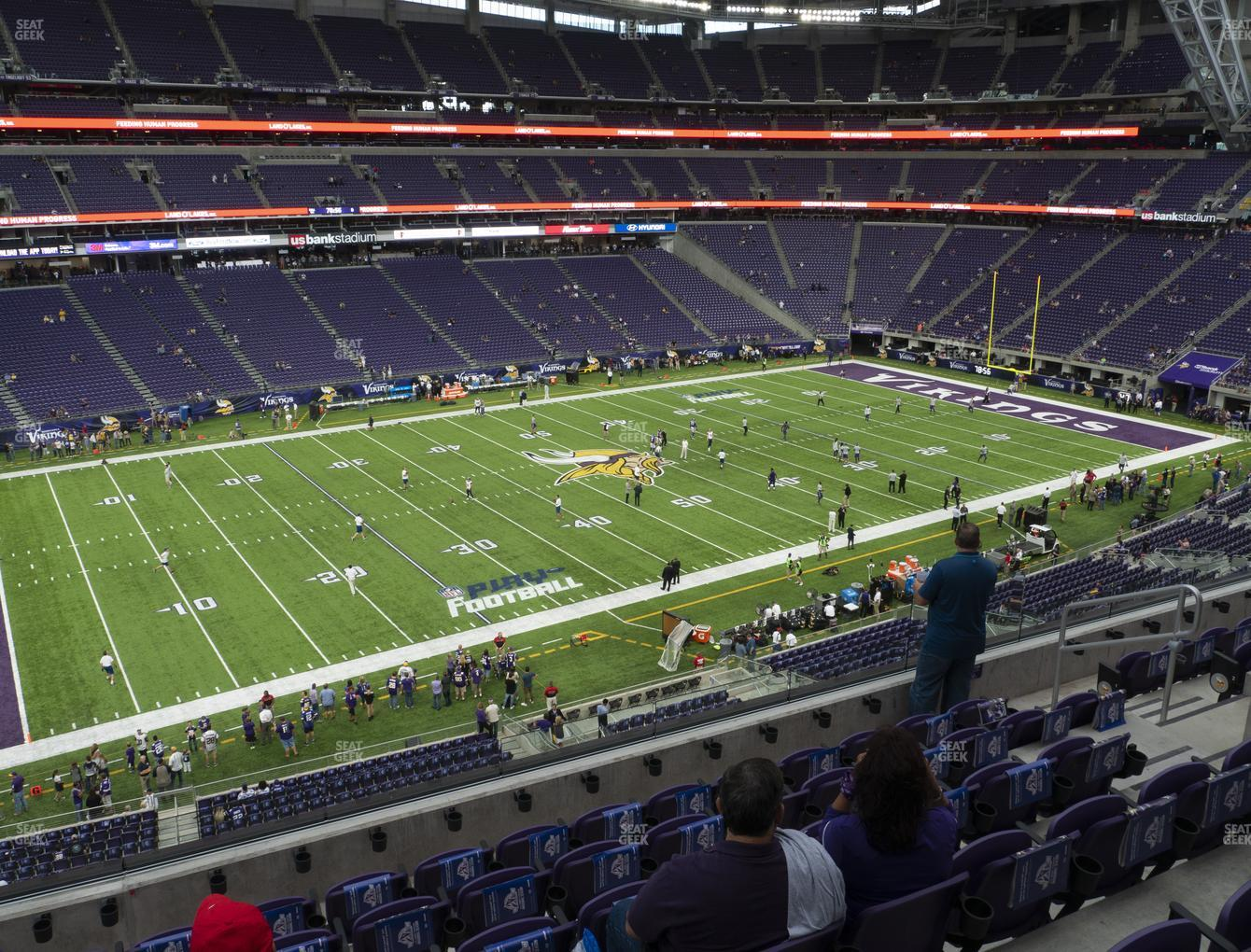 Minnesota Vikings at U.S. Bank Stadium Section 238 View