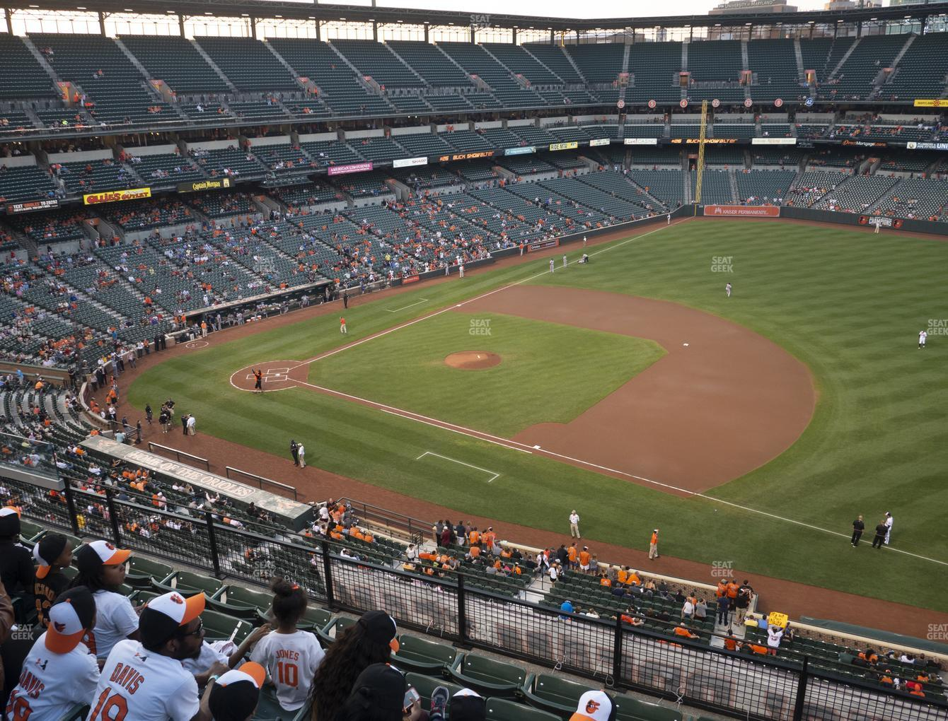 Baltimore Orioles at Oriole Park at Camden Yards Section 316 View