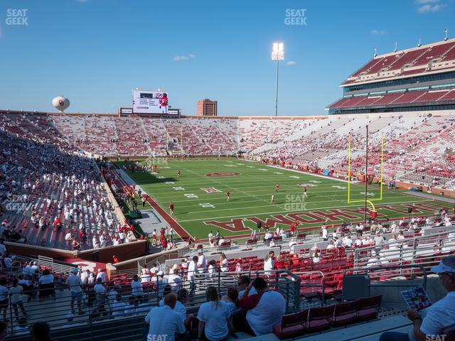 Gaylord Family Oklahoma Memorial Stadium Section 47 view