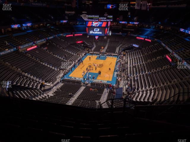Chesapeake Energy Arena Section 330 view