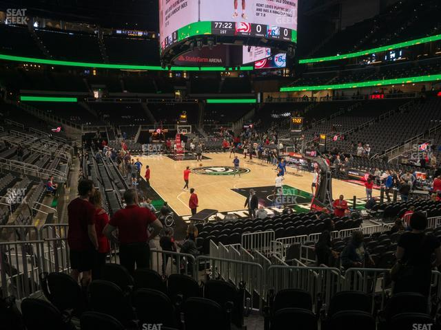 State Farm Arena Section 104 view
