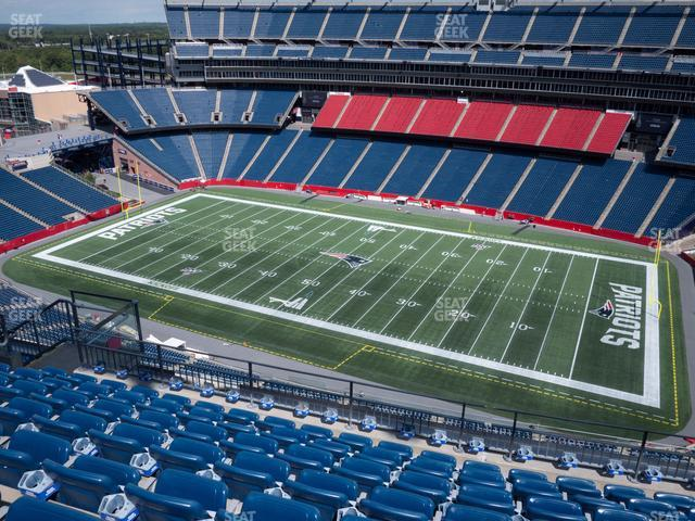 Gillette Stadium Section 328 view