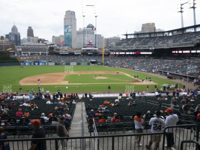 Comerica Park Section 134 view