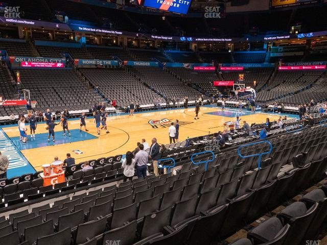 Chesapeake Energy Arena Section 117 view