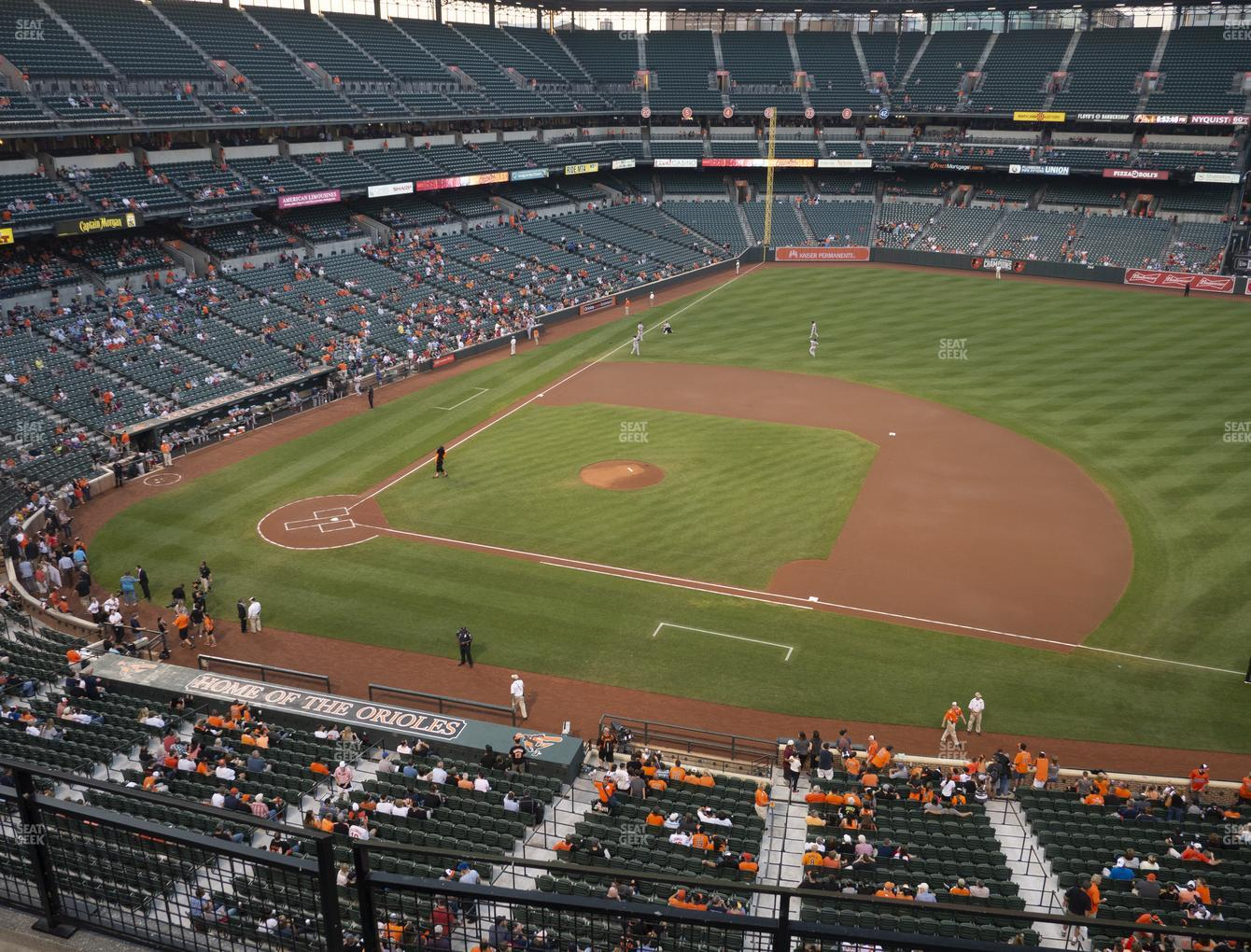 Baltimore Orioles at Oriole Park at Camden Yards Section 320 View