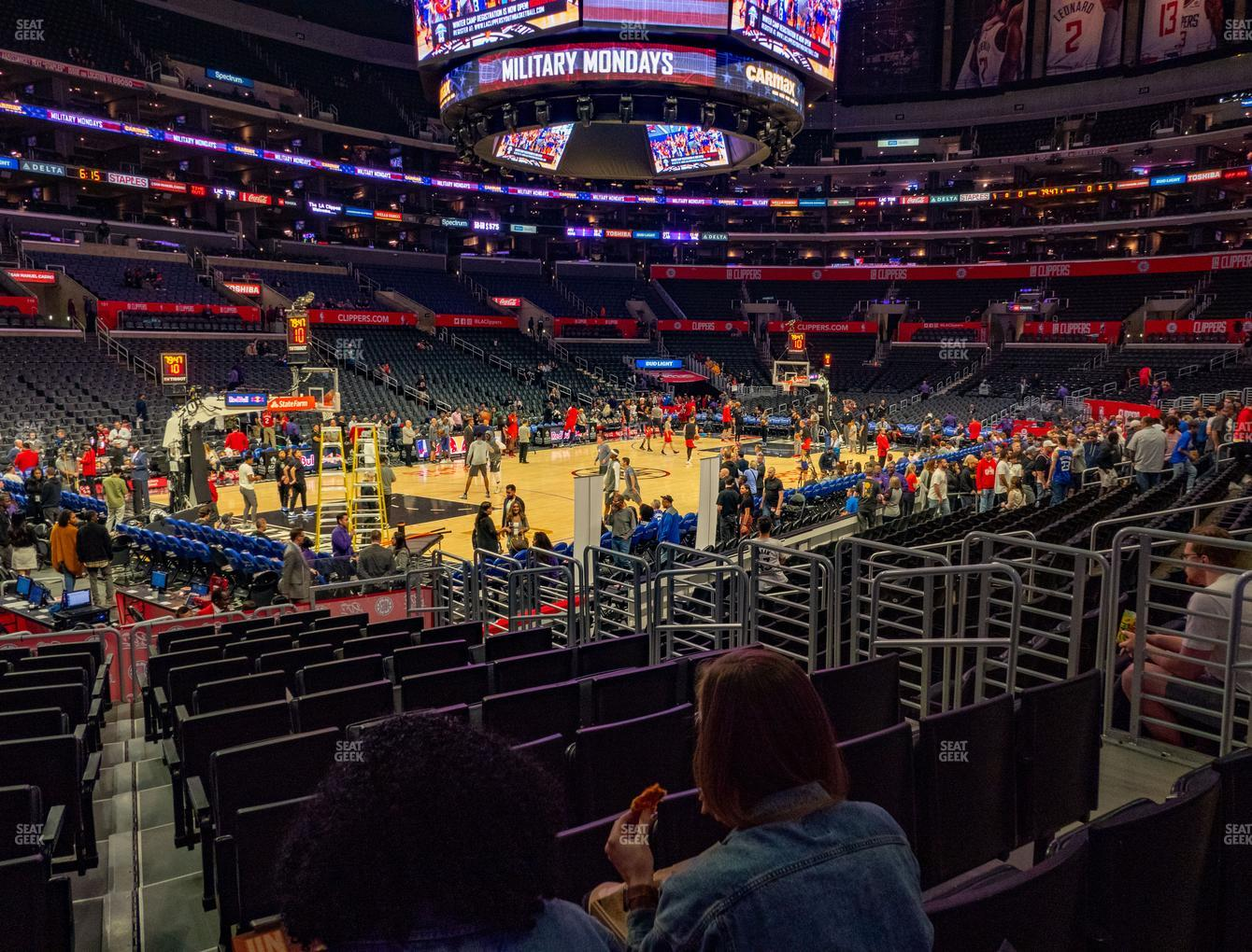 Los Angeles Lakers at Staples Center Section 114 View