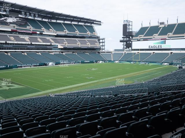Lincoln Financial Field Section 114 view