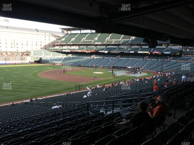 Oriole Park at Camden Yards Section 65 view