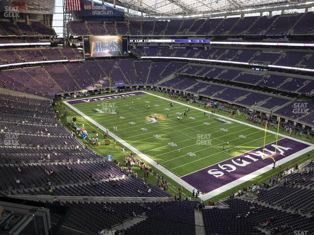 U.S. Bank Stadium Section 304 view