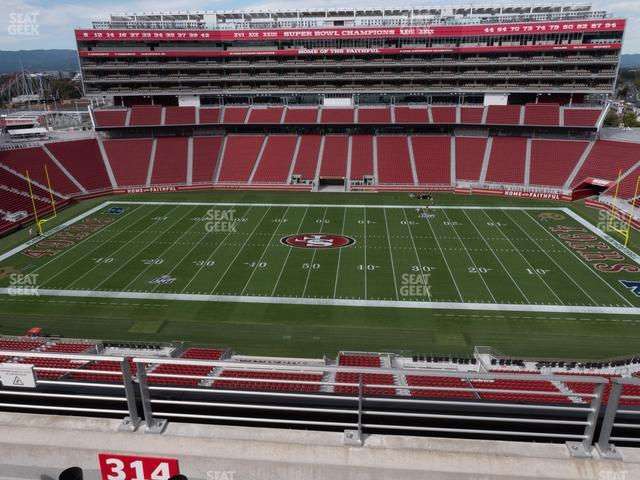 Levi's Stadium Section 314 view