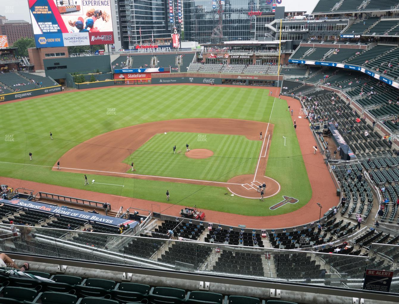 Atlanta Braves at SunTrust Park Section 329 View
