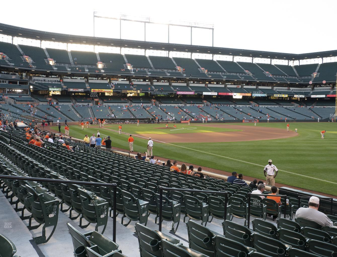 Baltimore Orioles at Oriole Park at Camden Yards Section 8 View
