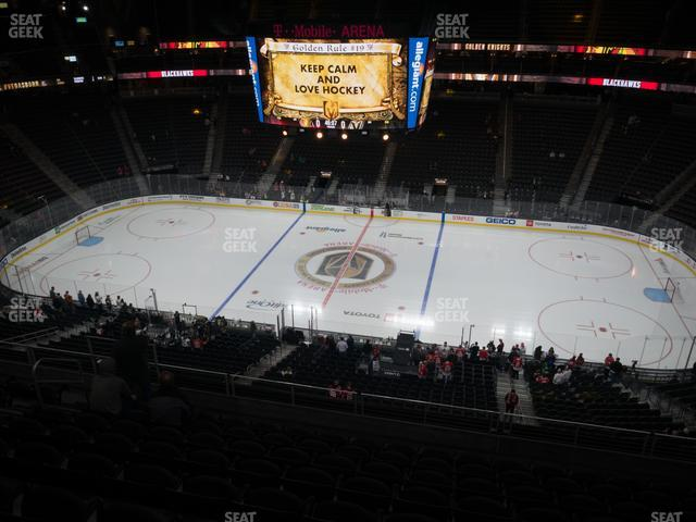 T-Mobile Arena Section 206 view