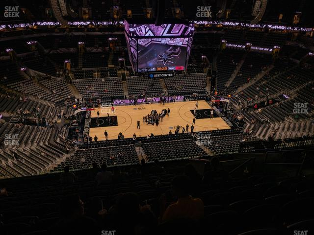 AT&T Center Section 225 view