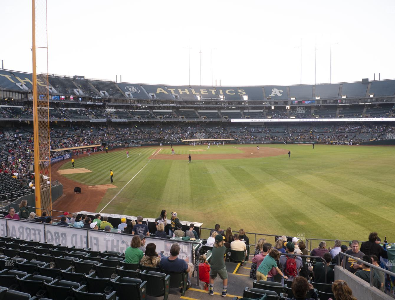 Oakland Athletics at RingCentral Coliseum Section 101 View