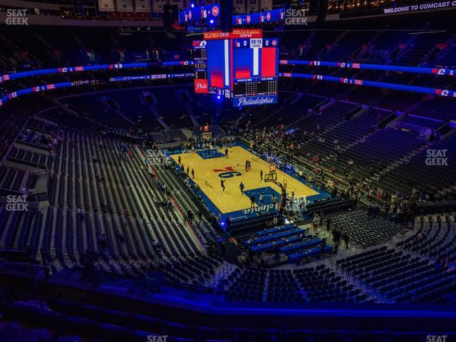 Wells Fargo Center Section 217 A view