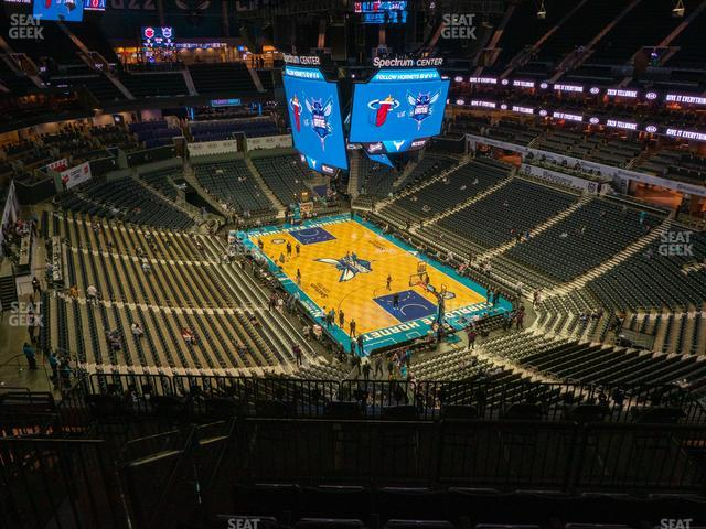 Spectrum Center Section 203 view