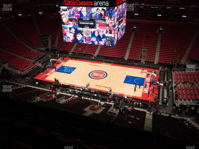 Little Caesars Arena Section 225 view