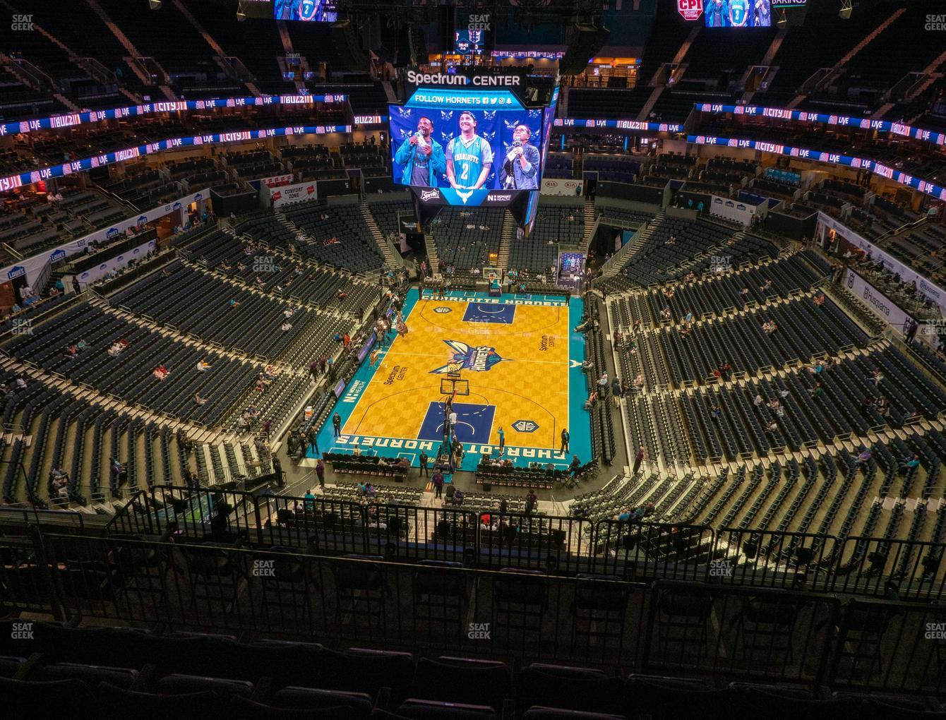 Charlotte Hornets at Spectrum Center Section 233 View