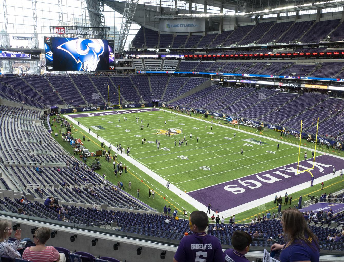 Minnesota Vikings at U.S. Bank Stadium Section 226 View