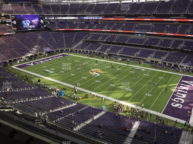 U.S. Bank Stadium Section 308 view