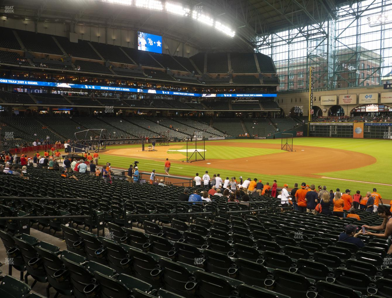 Houston Astros at Minute Maid Park Section 129 View