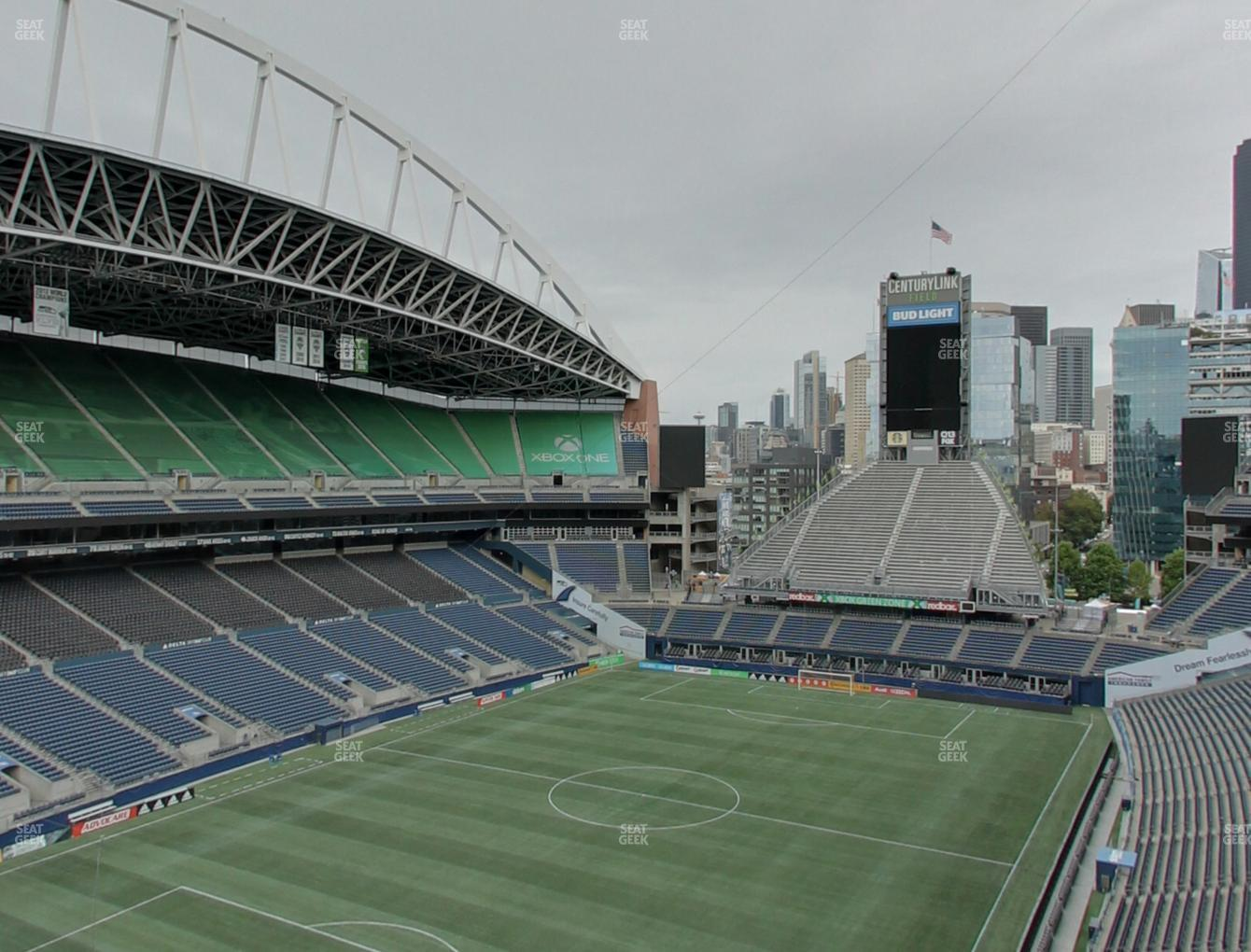 Seattle Sounders FC at CenturyLink Field Upper 317 View