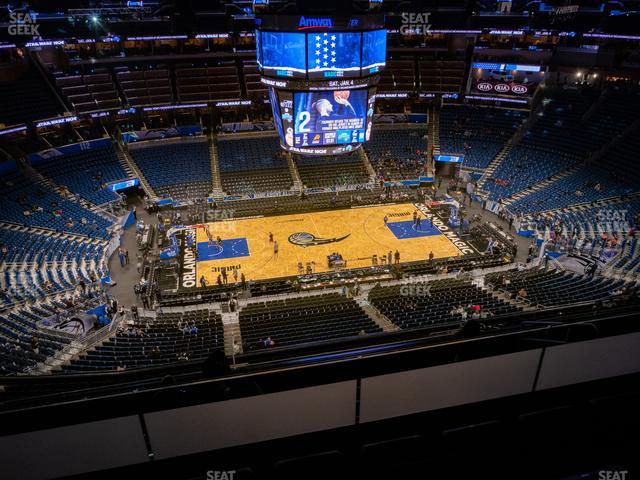 Amway Center Section 210 view