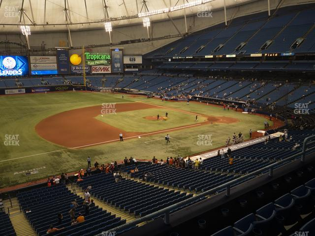 Tropicana Field Section 215 view