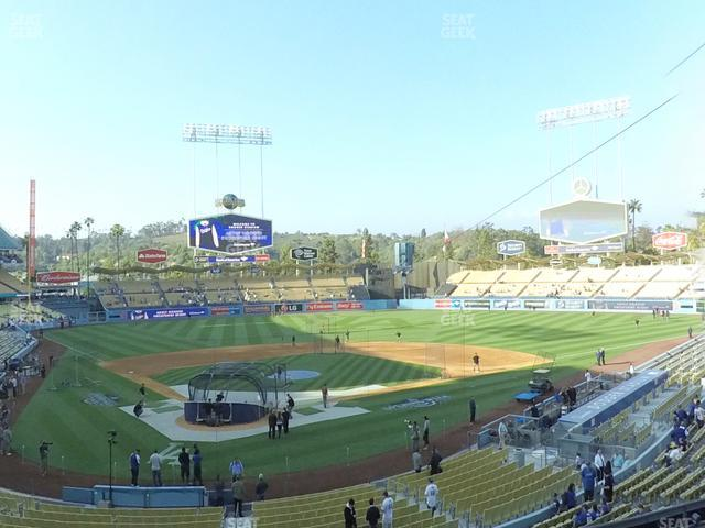 Dodger Stadium Loge Box 110 view