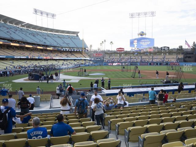 Dodger Stadium Field Box 14 view