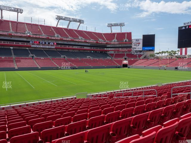 Raymond James Stadium Section 108 view