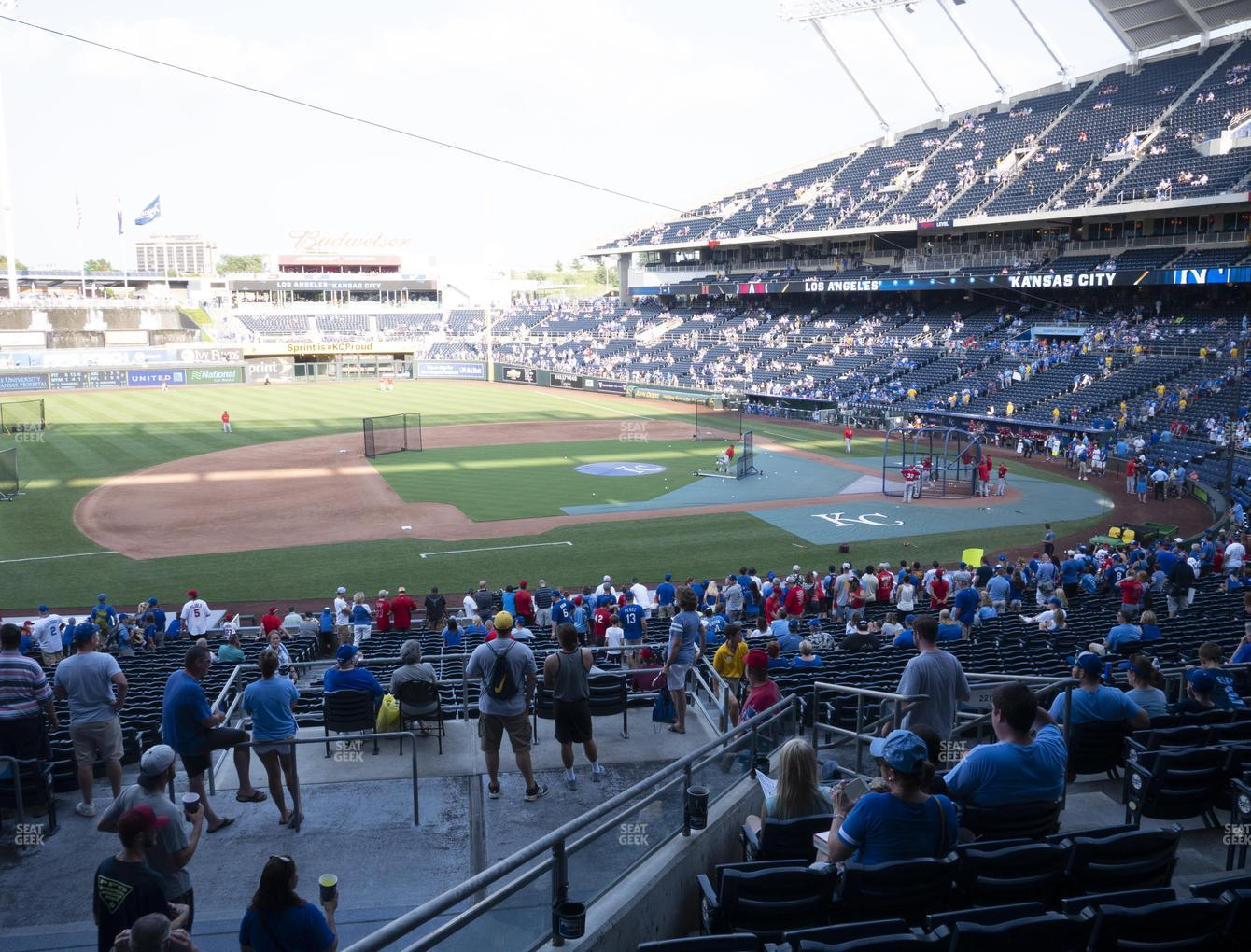 Kansas City Royals at Kauffman Stadium Section 219 View