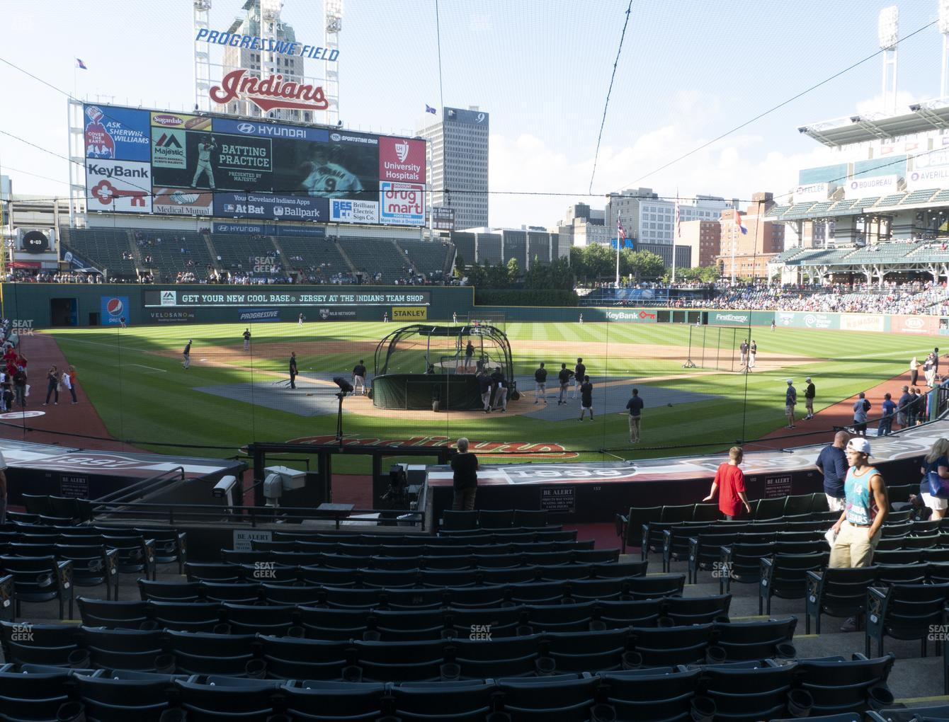 Cleveland Indians at Progressive Field Section 153 View