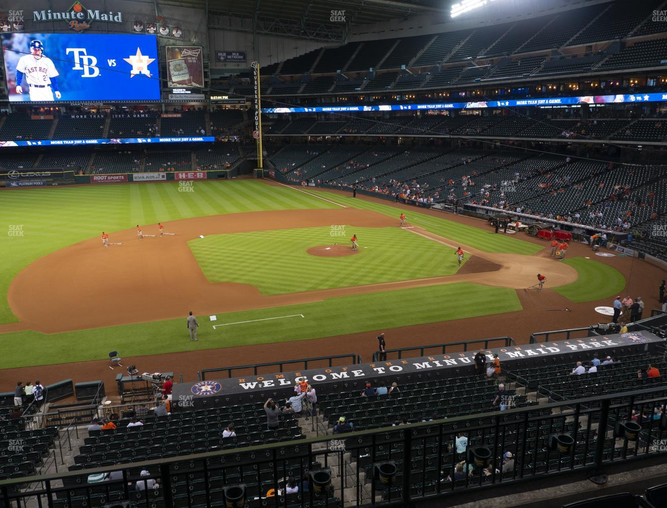 Houston Astros at Minute Maid Park Section 212 View